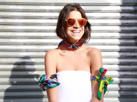 Lounge poolside at RESORT with Leandra Medine